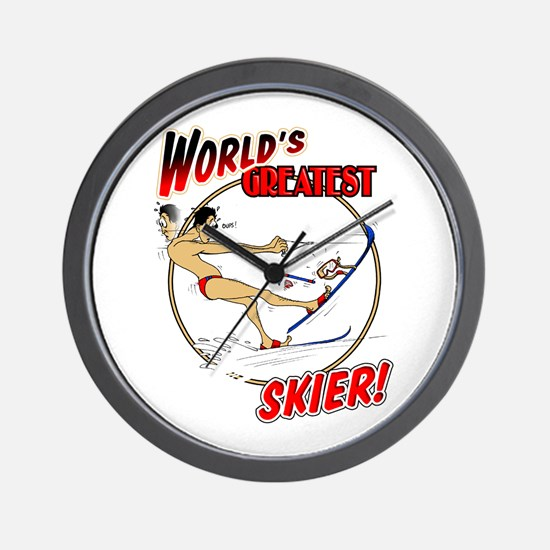 Skier Wall Clock