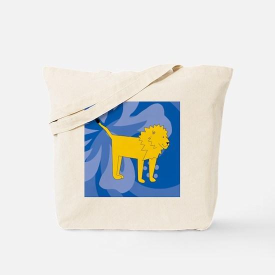 Lion 60 Curtains Tote Bag