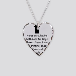 Chasing the Mailman Necklace Heart Charm