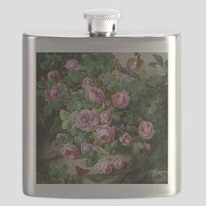 Josef Lauer Rosenstillleben mit Schmetter Flask