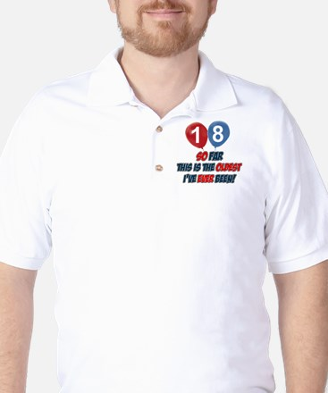 18 year old Funny birthday designs Golf Shirt