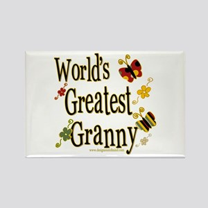 Granny Butterflies Rectangle Magnet