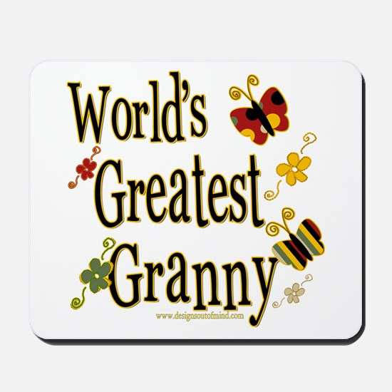 Granny Butterflies Mousepad