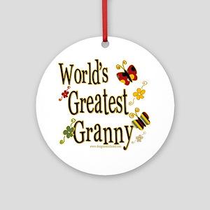 Granny Butterflies Ornament (Round)