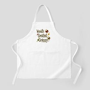Granny Butterflies BBQ Apron