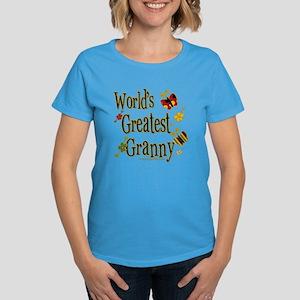 Granny Butterflies Women's Dark T-Shirt