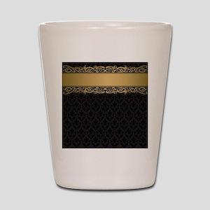 Golden Stripe Vintage Damask Shot Glass