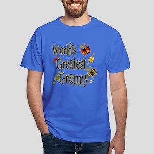 Granny Butterflies Dark T-Shirt