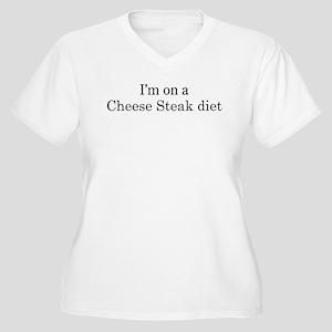 Cheese Steak diet Women's Plus Size V-Neck T-Shirt