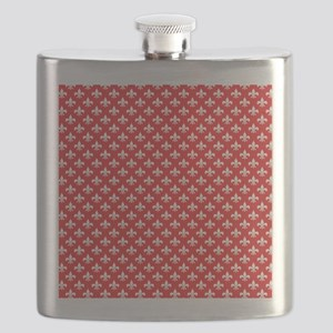 Fleur-de-lis on red Flask