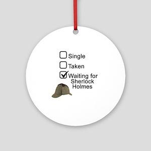Waiting for Sherlock Round Ornament