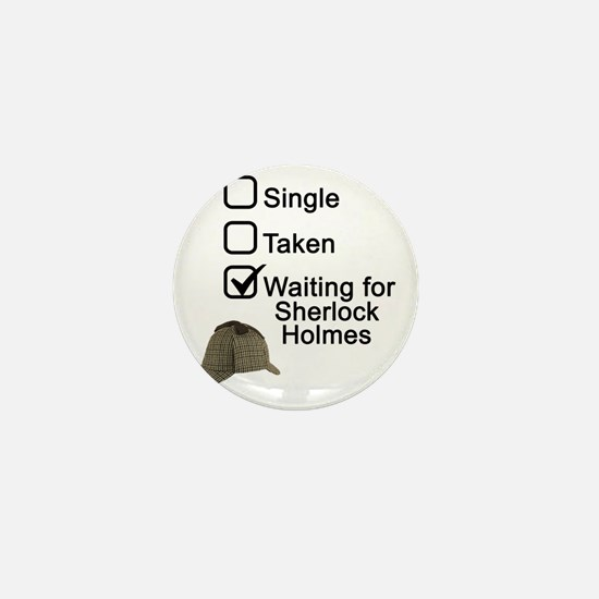 Waiting for Sherlock Mini Button