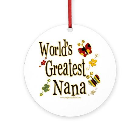 Nana Butterflies Ornament (Round)