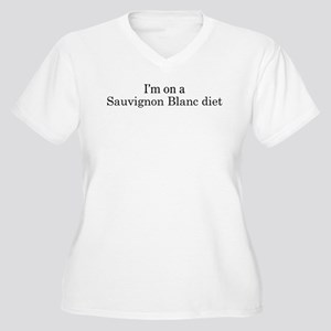 Sauvignon Blanc diet Women's Plus Size V-Neck T-Sh