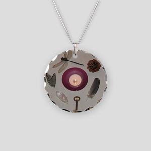 Gathering of Symbols Necklace Circle Charm