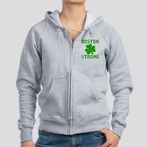 Boston Strong - Green Women's Zip Hoodie