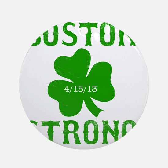 Boston Strong - Green Round Ornament