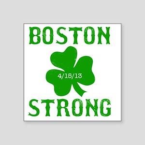 "Boston Strong - Green Square Sticker 3"" x 3"""