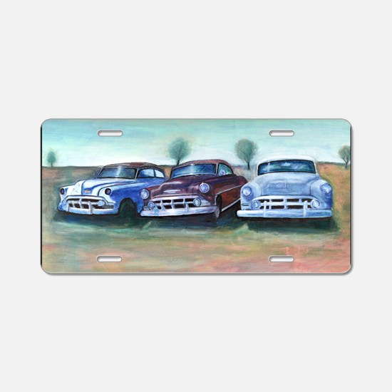 Three old friends Aluminum License Plate