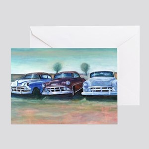 Three old friends Greeting Card