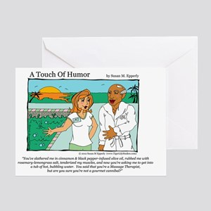 A Touch of Humor Cannibal Comic Greeting Card