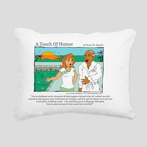 A Touch of Humor Canniba Rectangular Canvas Pillow