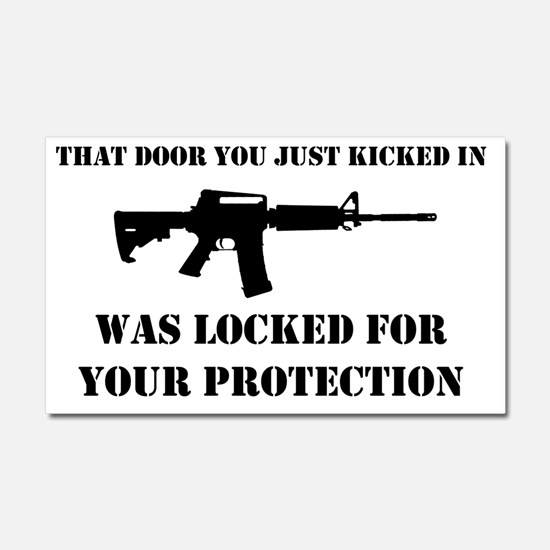 Kicked In Car Magnet 20 x 12
