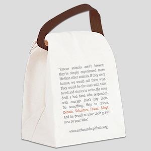 Not Broken Canvas Lunch Bag