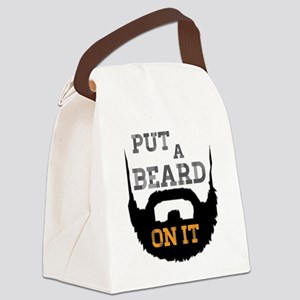 Put A Beard On It Canvas Lunch Bag