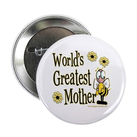 Mother Bumble Bee Button