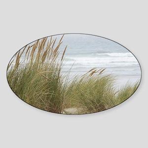 wind-in-the-grasses-horiz-laptop Sticker (Oval)