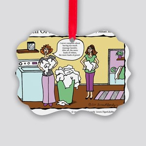 A Touch of Humor Massage Laundry  Picture Ornament