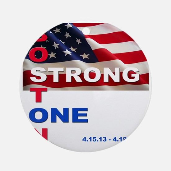 Boston Strong - One Round Ornament