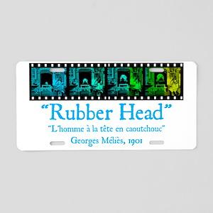 Rubber Head Aluminum License Plate