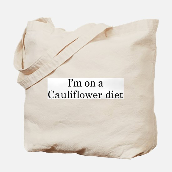 Cauliflower diet Tote Bag