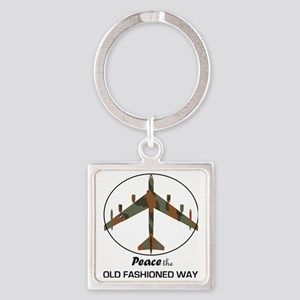 B-52 Stratofortress Peace the Old  Square Keychain