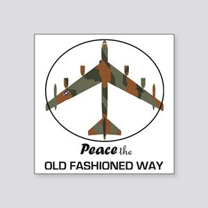 "B-52 Stratofortress Peace t Square Sticker 3"" x 3"""
