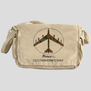 B-52 Stratofortress Peace the Old Fa Messenger Bag