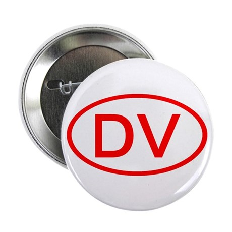 """DV Oval (Red) 2.25"""" Button (10 pack)"""