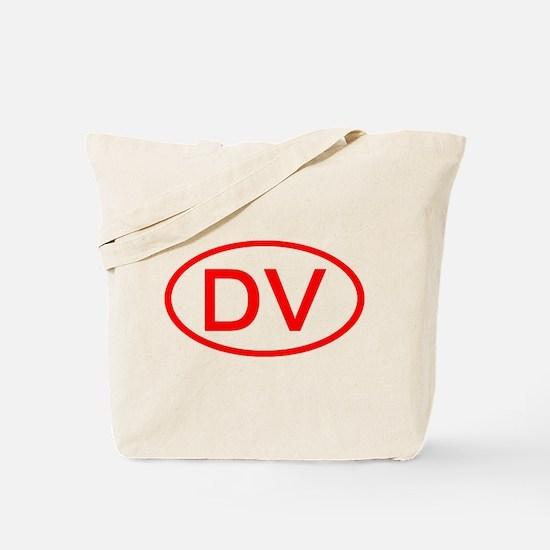 DV Oval (Red) Tote Bag
