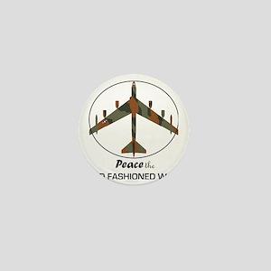 B-52 Stratofortress Peace the Old Fash Mini Button