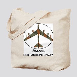 B-52 Stratofortress Peace the Old Fashion Tote Bag