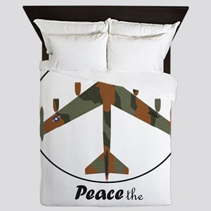 B-52 Stratofortress Peace the Old Fash Queen Duvet