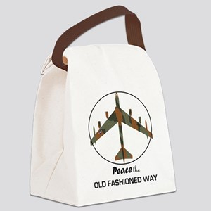 B-52 Stratofortress Peace the Old Canvas Lunch Bag
