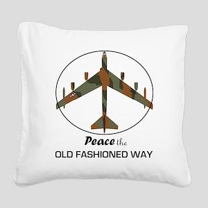 B-52 Stratofortress Peace the Square Canvas Pillow