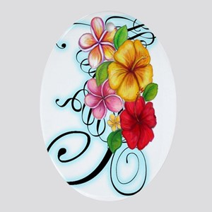 Flower Fusion Oval Ornament