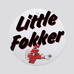 Little Fokker Round Ornament