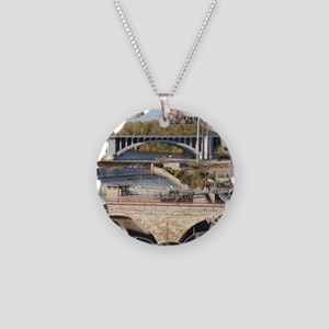 Minneapolis Mississippi Brid Necklace Circle Charm
