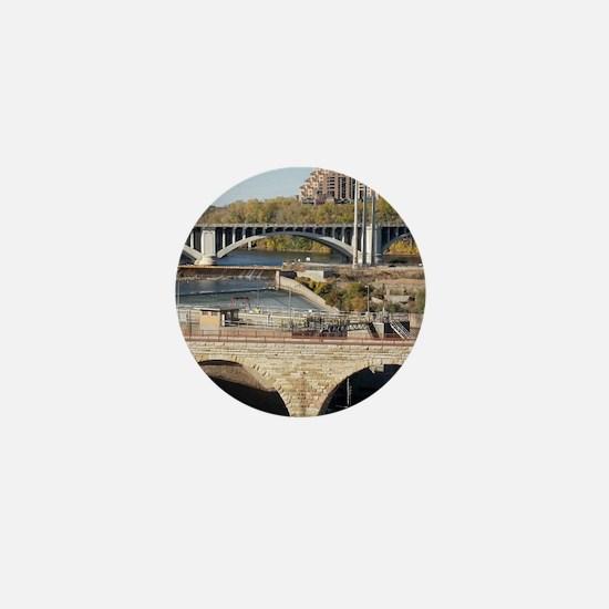 Minneapolis Mississippi Bridges Mini Button