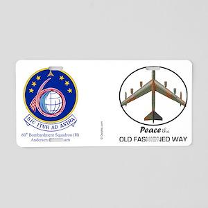 B-52 Stratofortress Peace t Aluminum License Plate